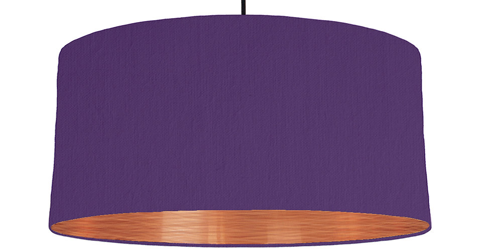 Violet & Brushed Copper Lampshade - 60cm Wide