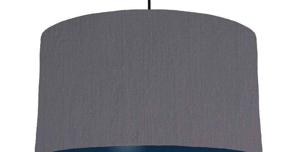 Dark Grey & Navy Lampshade - 50cm Wide