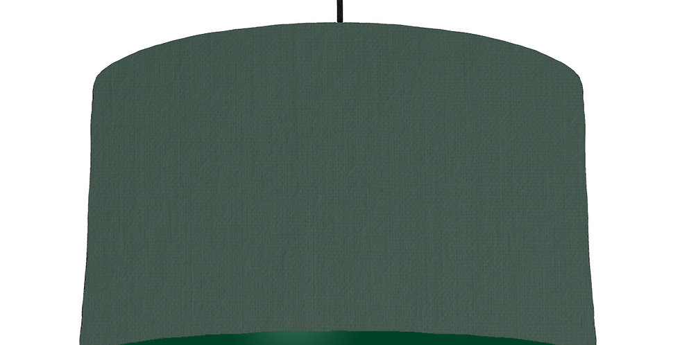 Bottle Green & Forest Green Lampshade - 50cm Wide