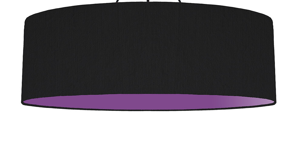 Black & Purple Lampshade - 100cm Wide