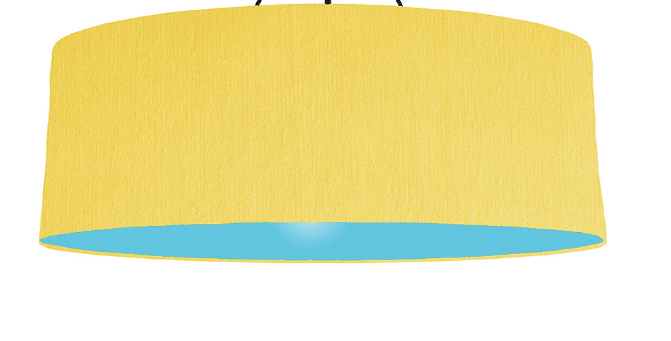 Lemon & Light Blue Lampshade - 100cm Wide