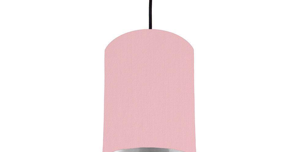 Pink & Silver Mirrored Lampshade - 15cm Wide