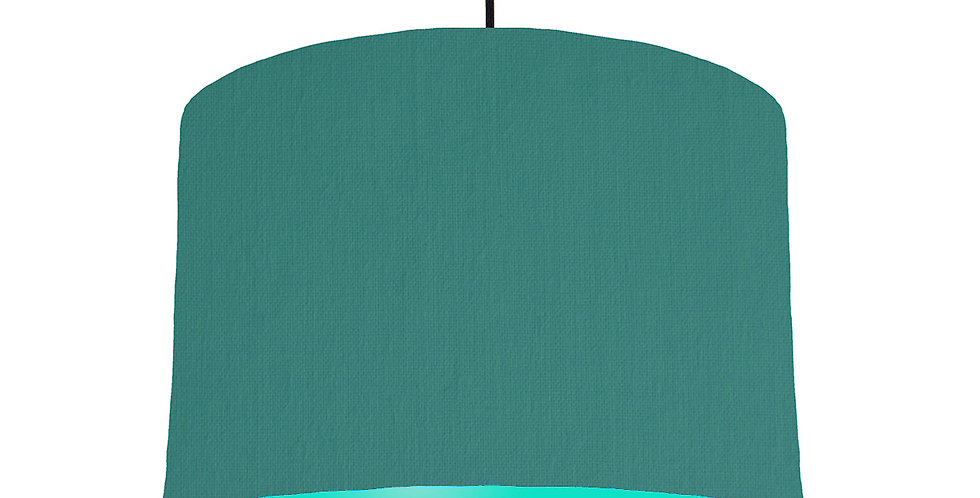 Jade & Turquoise Lampshade - 30cm Wide