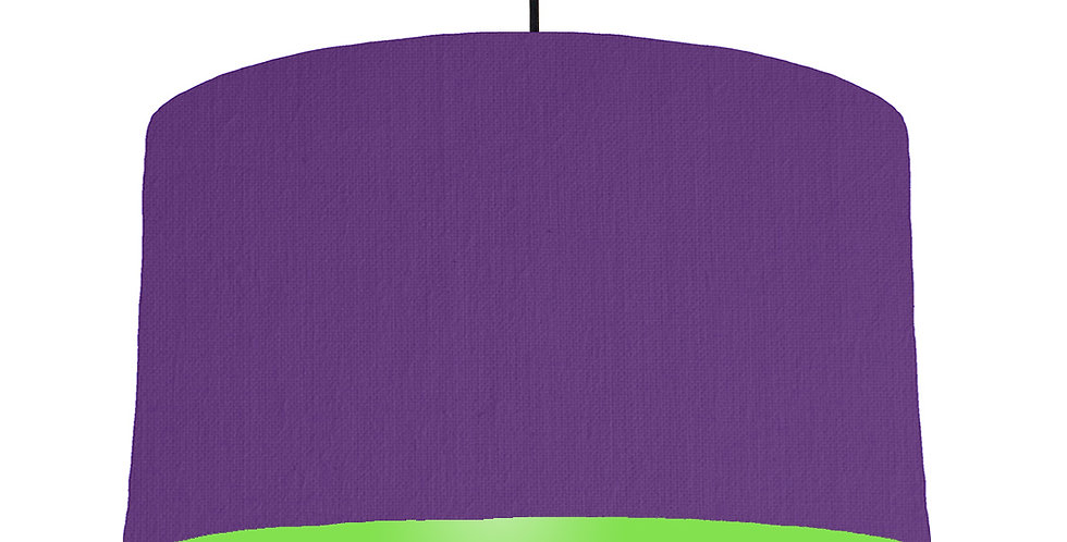 Violet & Lime Green Lampshade - 50cm Wide