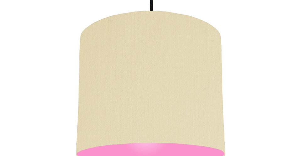 Natural & Pink Lampshade - 25cm Wide