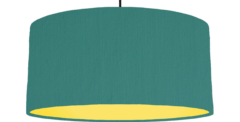 Jade & Butter Yellow Lampshade - 60cm Wide