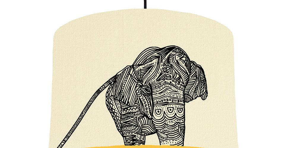 Elephant - Natural & Butter Yellow