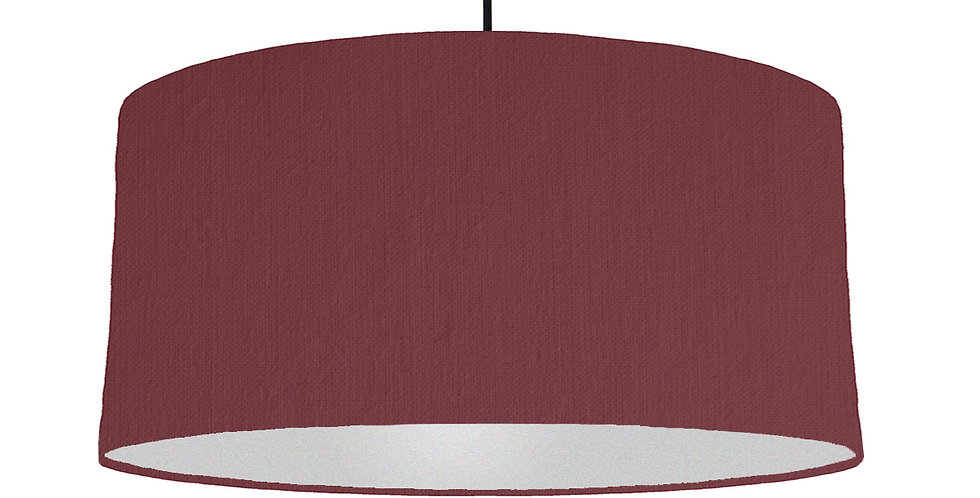 Wine Red & Silver Lampshade - 60cm Wide