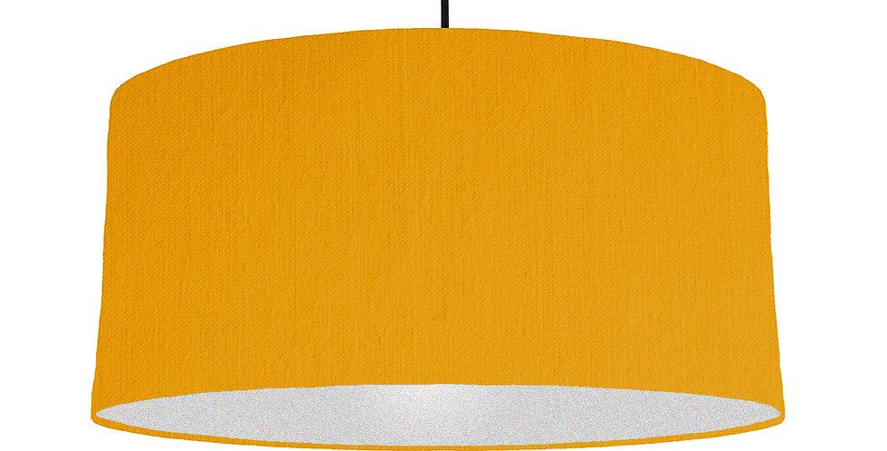 Mustard & Silver Matt Lampshade - 60cm Wide