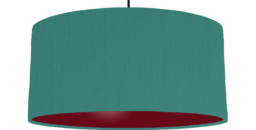 Jade & Burgundy Lampshade - 60cm Wide