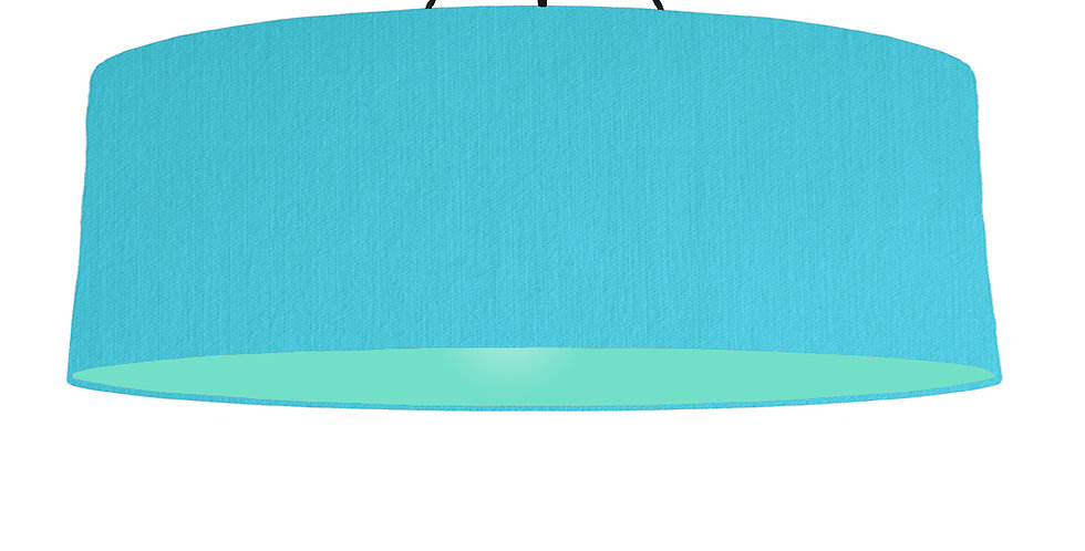 Turquoise & Mint Lampshade - 100cm Wide