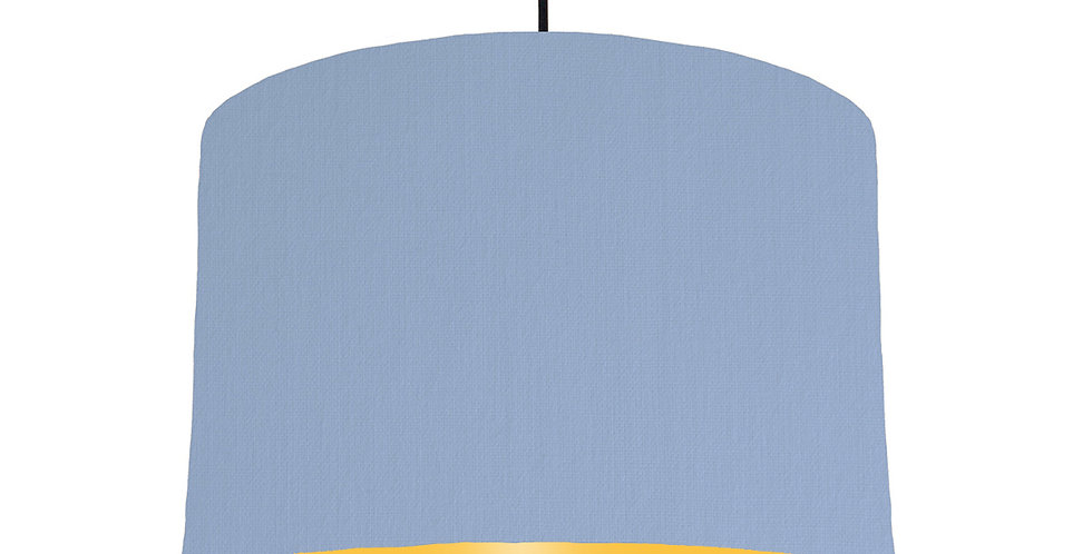 Sky Blue & Butter Yellow Lampshade - 30cm Wide