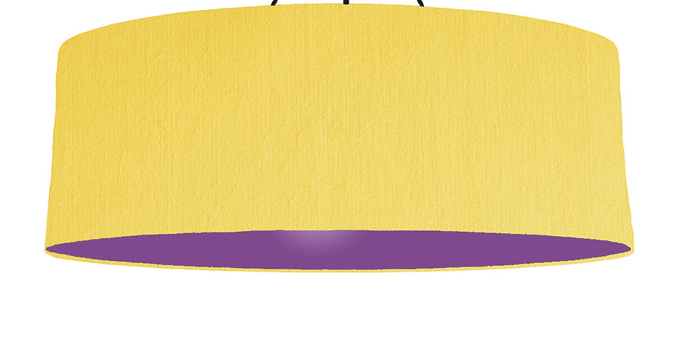 Lemon & Purple Lampshade - 100cm Wide