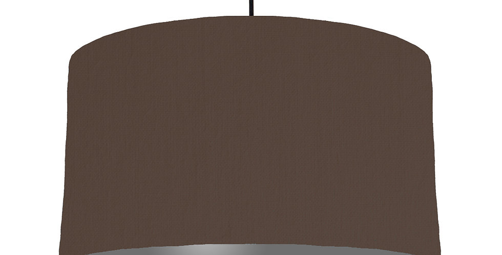 Brown & Dark Grey Lampshade - 50cm Wide