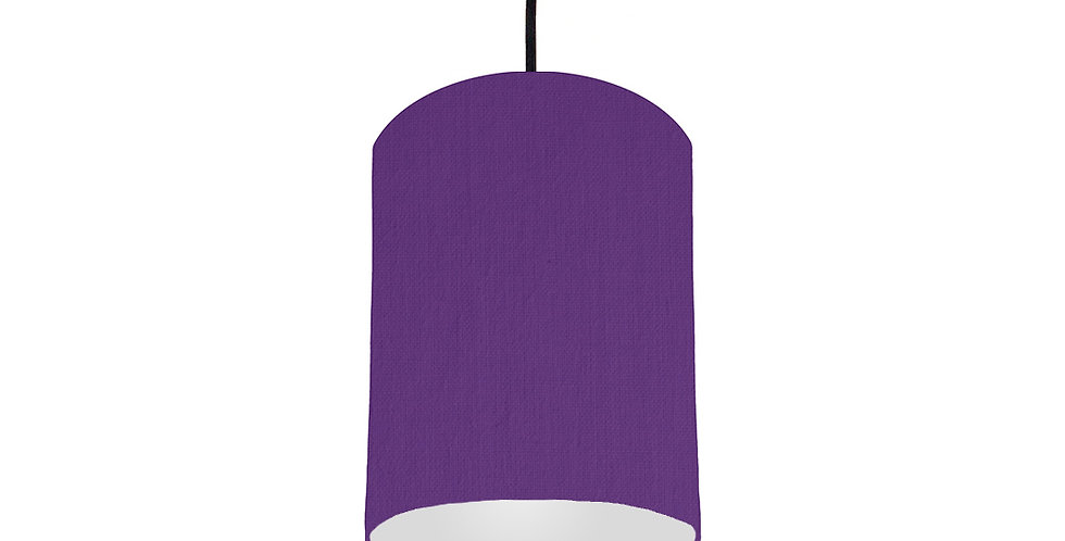 Violet & Light Grey Lampshade - 15cm Wide