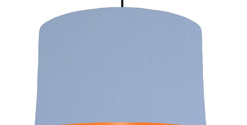 Sky Blue & Orange Lampshade - 40cm Wide