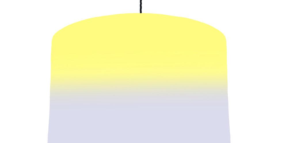 Faded Striped Lampshade (Yellow & Grey) - Metallic Lining