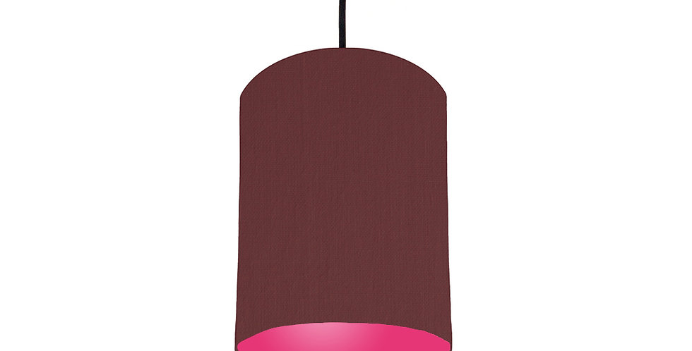 Wine Red & Magenta Lampshade - 15cm Wide