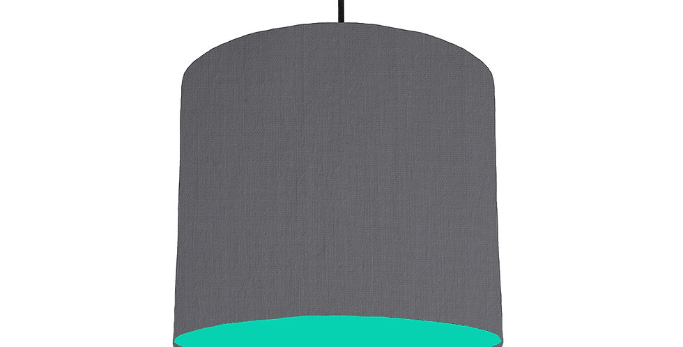 Dark Grey & Turquoise Lampshade - 25cm Wide