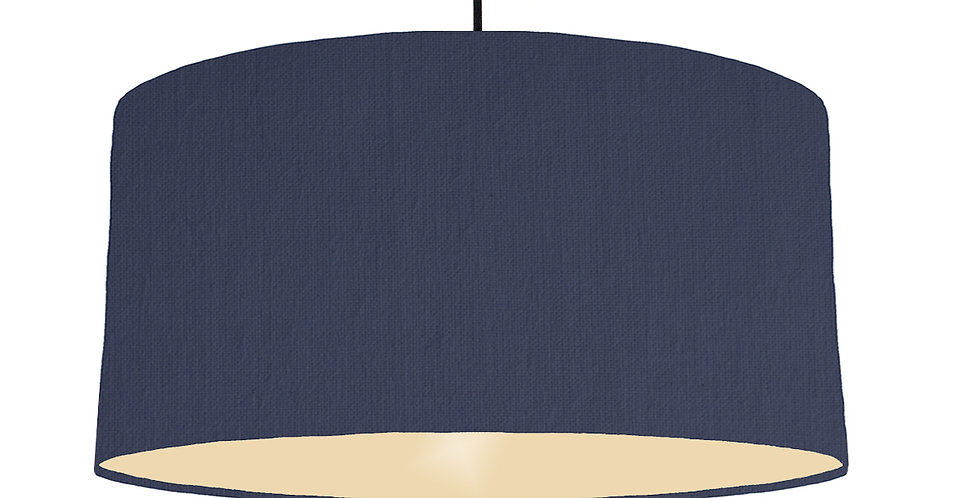 Navy Blue & Ivory Lampshade - 60cm Wide