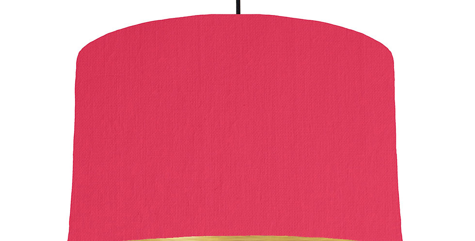 Cerise & Brushed Gold Lampshade - 40cm Wide