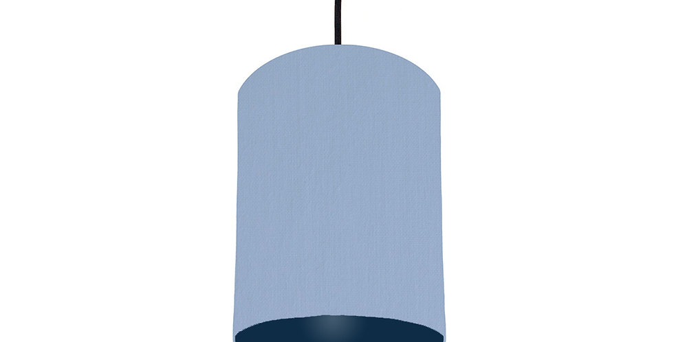 Sky Blue & Navy Lampshade - 15cm Wide