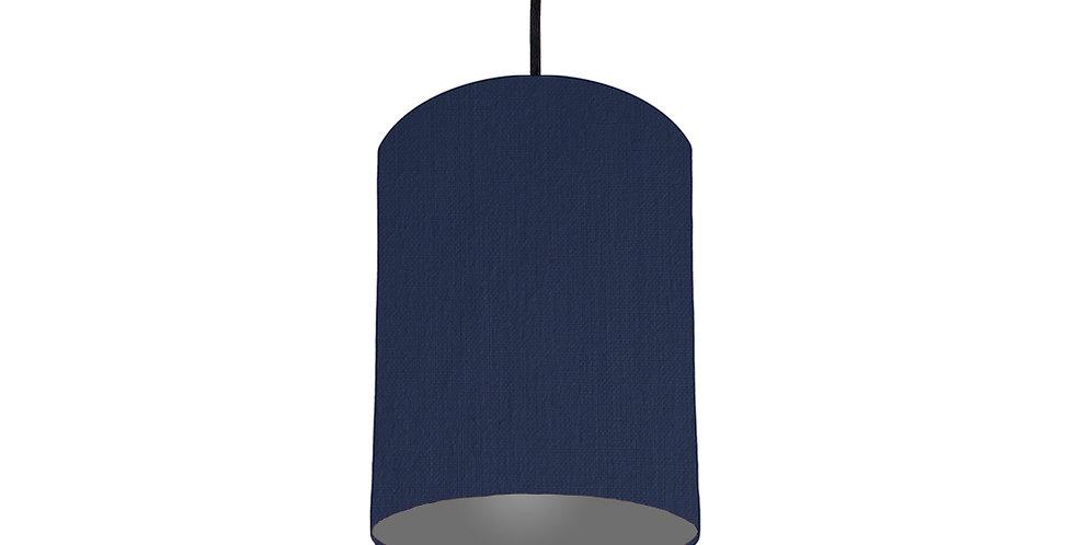 Navy Blue & Dark Grey Lampshade - 15cm Wide