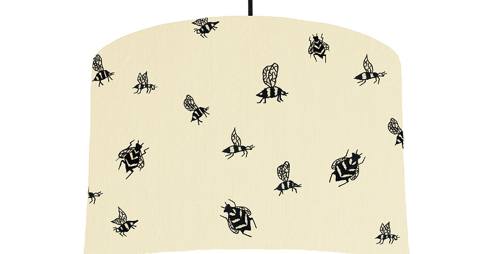 Bumble Bee Lampshade - Natural & White Lining