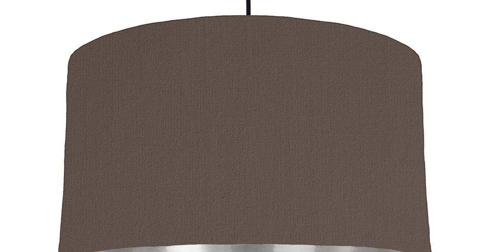 Brown & Silver Mirrored Lampshade - 50cm Wide