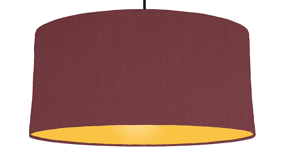 Wine Red & Butter Yellow Lampshade - 60cm Wide