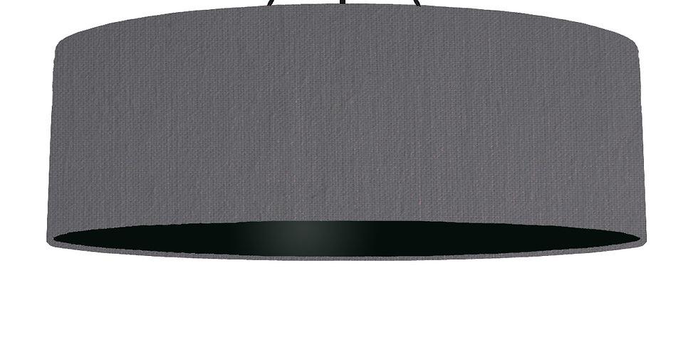 Dark Grey & Black Lampshade - 100cm Wide
