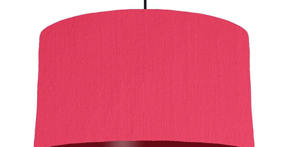 Cerise & Burgundy Lampshade - 50cm Wide