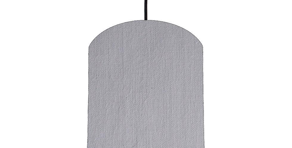 Light Grey & Light Grey Lampshade - 20cm Wide