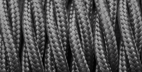 Dark Grey - Industville Twisted Fabric Cable