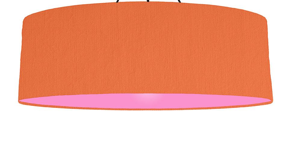 Orange & Pink Lampshade - 100cm Wide