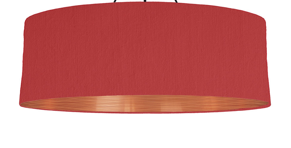Red & Brushed Copper Lampshade - 100cm Wide