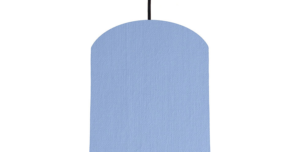 Sky Blue & Black Lampshade - 20cm Wide