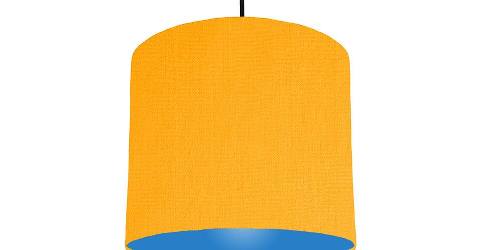 Sunshine & Bright Blue Lampshade - 25cm Wide