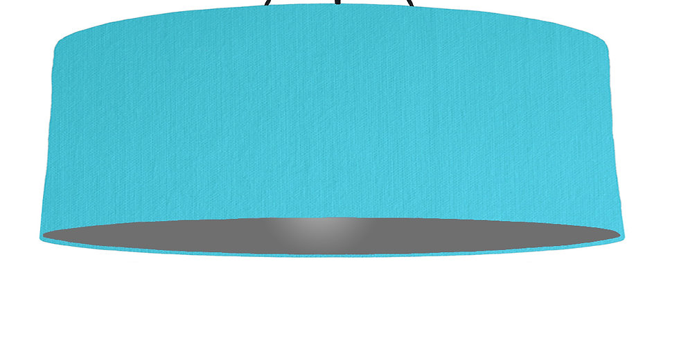 Turquoise & Dark Grey Lampshade - 100cm Wide