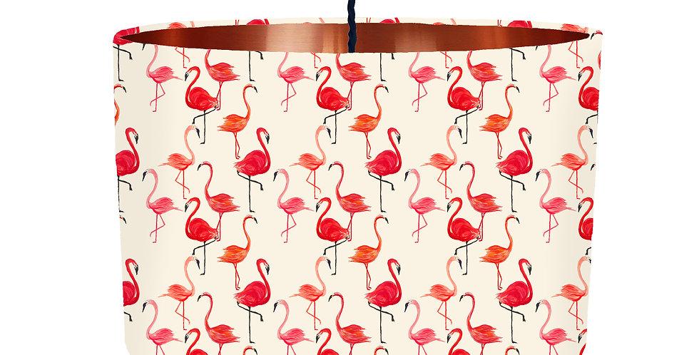 Flamingo Lampshade - Metallic Lining