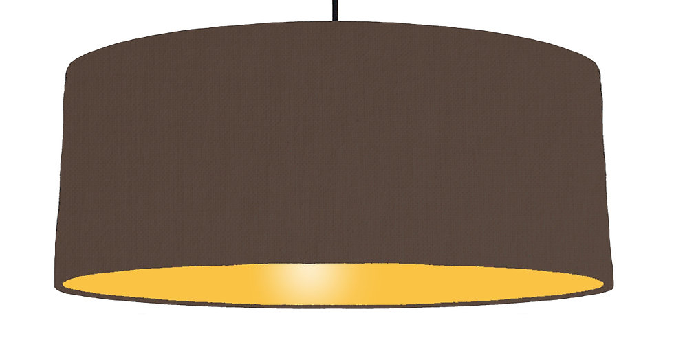 Brown & Butter Yellow Lampshade - 70cm Wide