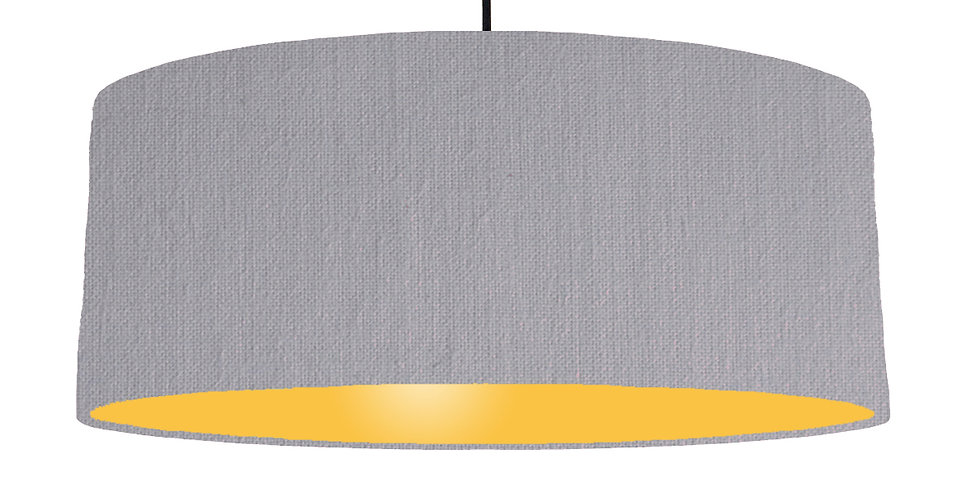 Light Grey & Butter Yellow Lampshade - 70cm Wide