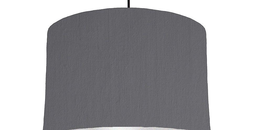 Dark Grey & Silver Lampshade - 30cm Wide