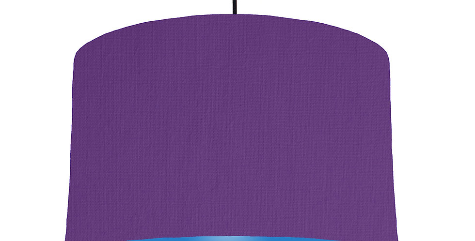 Violet & Bright Blue Lampshade - 40cm Wide