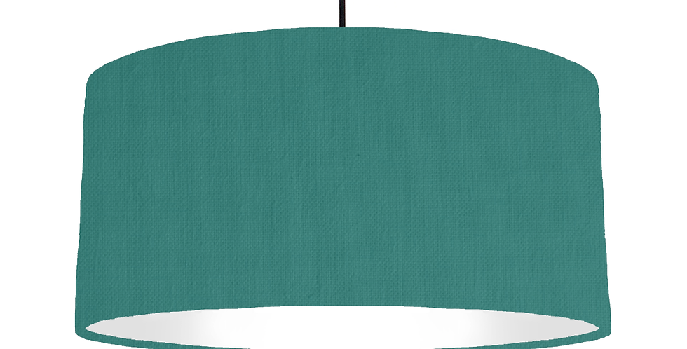 Jade & White Lampshade - 60cm Wide