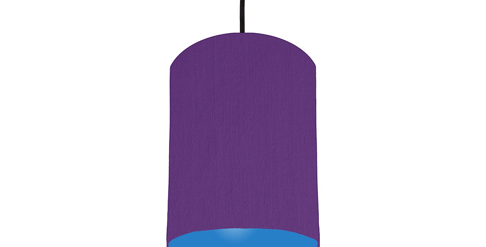 Violet & Bright Blue Lampshade - 15cm Wide