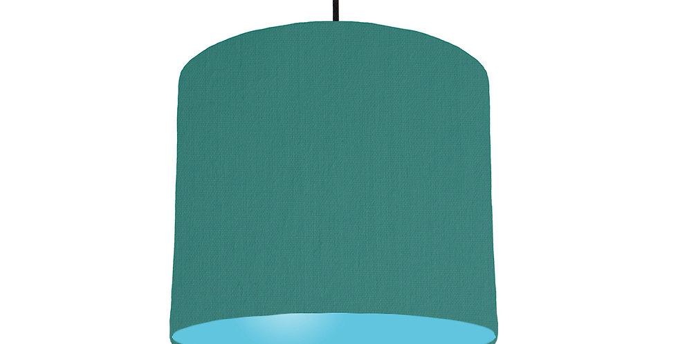 Jade & Light Blue Lampshade - 25cm Wide
