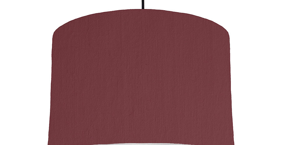 Wine Red & Silver Lampshade - 30cm Wide