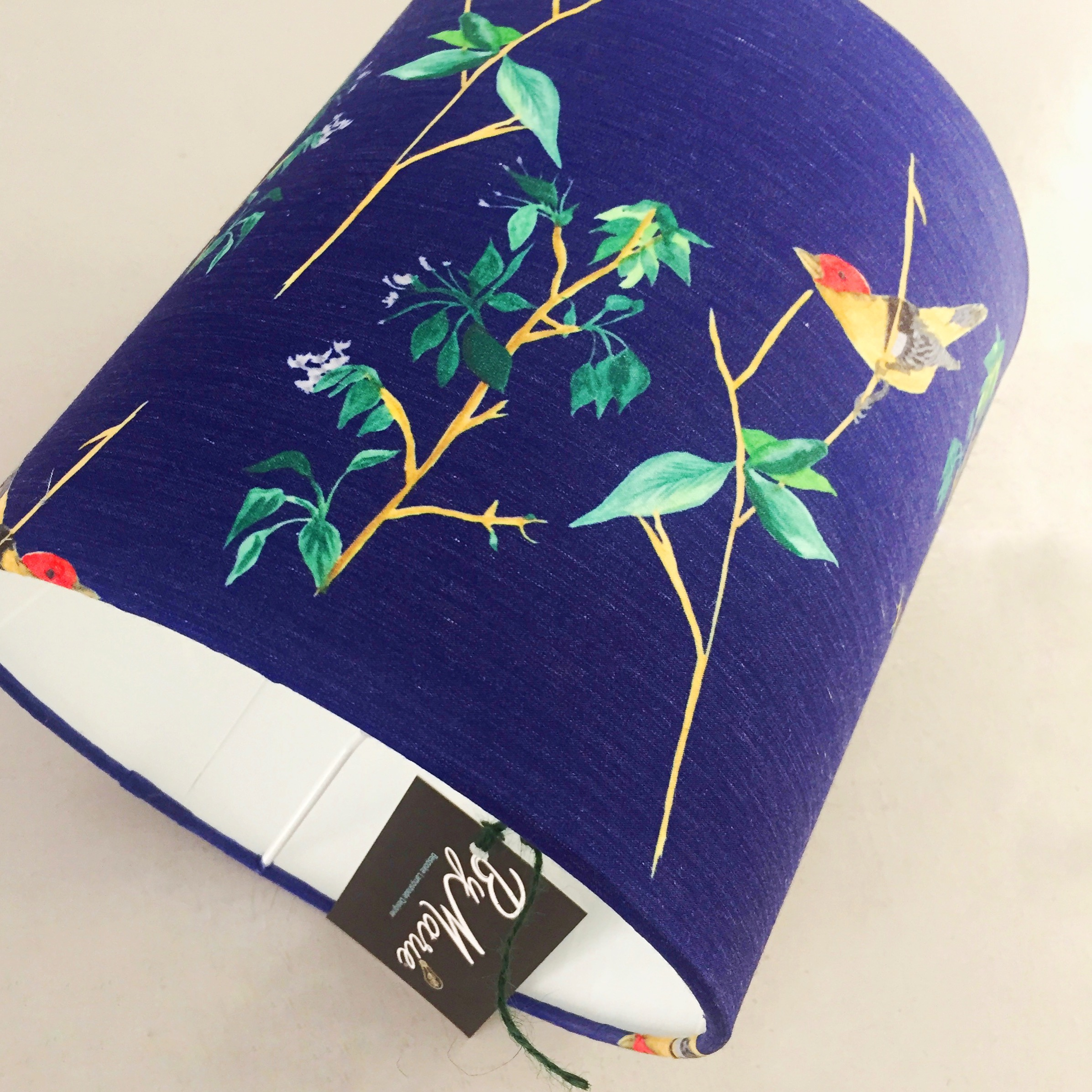 Navy blue bird lampshade