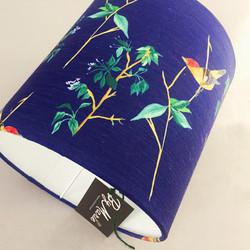 Navy blue bird lampshade